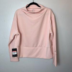 NWT Nike Pink Cowl Neck Cropped Sweatshirt  M1138